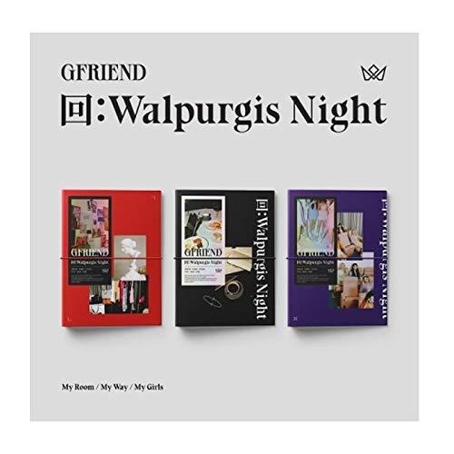 Gfriend 回:Walpurgis Night 3rd Album Random Version CD+60p PhotoBook+24p Lyrics+16p Mini Book+1p PhotoStand+1p Pop-Up Card+1p Business Card+1p Selfie+Message PhotoCard Set+Tracking Kpop