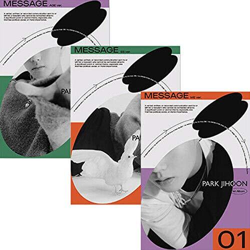 PARK JIHOON [MESSAGE] 1st Album [ME / SS / AGE] RANDOM VER. 1p CD+1p Photo Book(80p)+1p Book+1p Poster(On pack)+1p Motd Card+1p Ask Photo Card+1p Sticker+TRACKING CODE K-POP SEALED