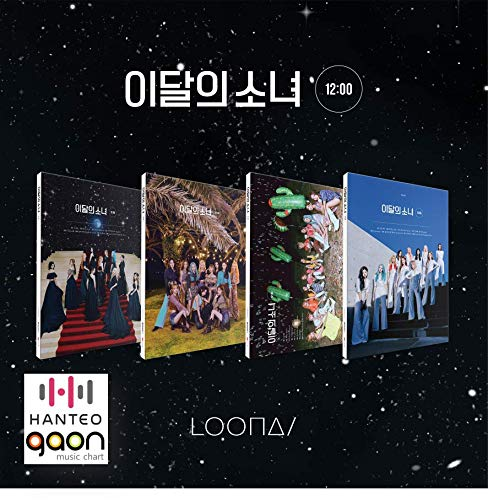 Loona - 12:00 [Random ver.] (3rd Mini Album) [Pre Order] CD+Photobook+Folded Poster+Others with Tracking, Extra Decorative Stickers, Photocards