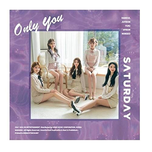 Saturday Only You 5th Single Album CD+Booklet+1p PhotoCard+1p Lenticular Card+2p Removable Sticker+Message PhotoCard Set+Tracking Kpop Sealed