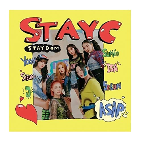 StayC Staydom 2nd Single Album CD+72p PhotoBook+1p PhotoCard+1p Postcard+Sticker+Fragrance Card+Message PhotoCard Set+Tracking Kpop Sealed